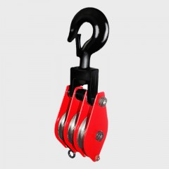 Three Wheels Pulley Block